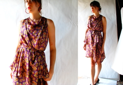 Los Angeles Silk Dress Set by Desira Pesta