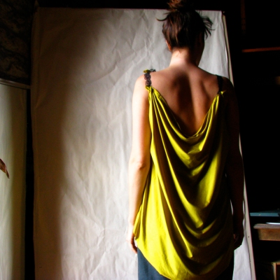 Cypriot Ecofriendly Draped Dress / one of a kind