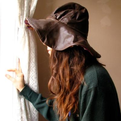 Desira Pesta's Hickory & Floral Floppy Hat