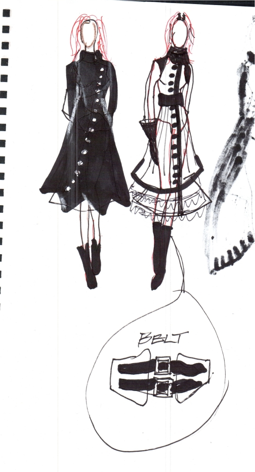 My sketches for the coat