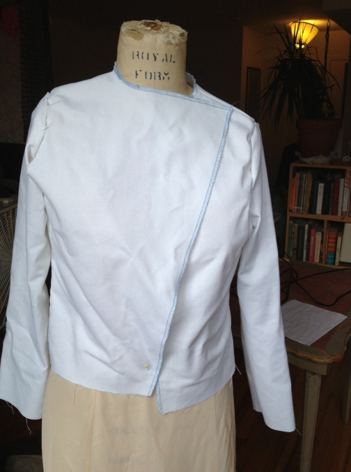 The pinned bodice pieces